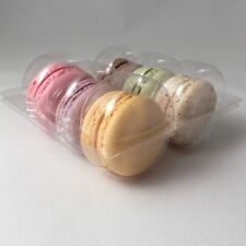 Clear macaroon / macaron inserts / plastic trays for 6 macaroons