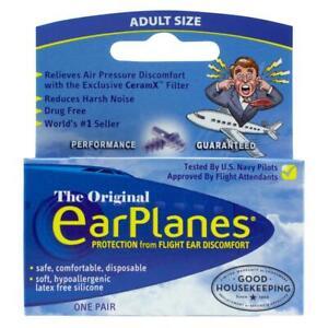 Flying Earplanes - Adult 12+ Ear Plugs - Flight Ear Pain Protection