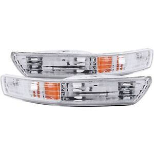ANZO PARKING/SIGNAL LIGHTS CHROME AMBER for 98-01 ACURA INTEGRA