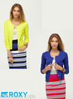 Roxy Women Blue/Yellow Knit Cotton Cardigan Size XS/S/M/L