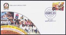 India 2014 Special Cover, Marwadi Yuva Manch, Blood Donation, Ambulance, Polio