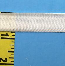 "Cotton Twill Tape Herringbone Braid Ribbon 3/4"" White 10 yards #TW62"