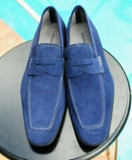 Magnanni mans Sky  Blue Suede Dress Loafer Shoes Brand Size 11 M