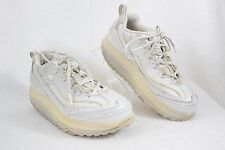 Skechers Shape Ups Women's 6.5 White Leather Toning Shoes SN 11800  B19