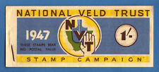 SOUTH AFRICA - 1947 NATIONAL VELD TRUST BILINGUAL 1/- BOOKLET -  COMPLETE - MNH