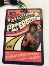 Peter Green Vip Laminate From London Tribute Show David Gilmour Fleetwood Mac!