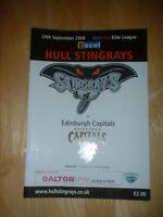2008/9 HULL STINGRAYS V EDINBURGH CAPITALS ICE HOCKEY