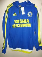 ADIDAS BOSNIA-HERZEGOVINA HOME BLUE FOOTBALL INTERNATIONAL SWEATSHIRT ZIP-UP XXL