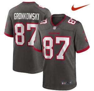 Nike NFL Tampa Bay Buccaneers Rob Gronkowski #87 Football Jersey Pewter sz L XL