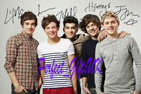 ONE DIRECTION X5 SIGNED 10X8 PP REPRO PHOTO liam harry louis zayn niall 1D
