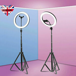 "12"" LED Ring Light with 1.6M Stand for Youtube Tiktok Makeup Video Phone Selfie"