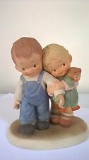 Mable  Lucie  Attwell  Porcelain  Boy & Girl  Figurine  Let's Be Nice  Enesco 88