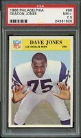 1966 Philadelphia FB Card # 96 Deacon Jones Los Angeles Rams PSA NM+ 7.5 !!!!