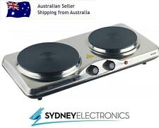 Maxim Double Portable Electric Cooktop & Hotplate 2400W- HP2