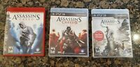 Lot Of 3 PS3 Games Assassins Creed 1, 2 ,3(New Sealed) (Sony PlayStation 3)