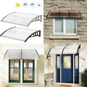New Door Canopy Awning Rain Shelter Front Back Porch Window Patio Roof UK Stock