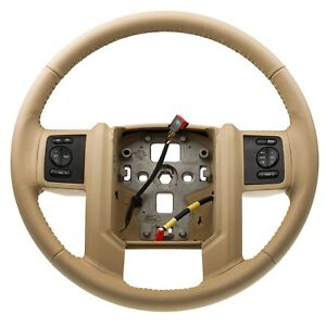 08-10 Ford F250 F350 Super Duty Leather Steering Wheel Camel Tan OEM 7C3Z3600CB