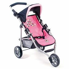 Bayer Chic 2000 Puppen Jogging-Buggy Lola Pink Checker NEU