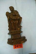 2473.  Alte geschnitzte Figur Barock Holz Schnitzerei Hl. Maria