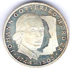 """BRD 10 Mark 1994 G. """"Johann Gottfried Herder"""" J.458, kl. Kratzer, fast vz/st"""