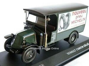 RENAULT CAMION BACHE TRUCK MODEL LORRY MICHELIN TYRES 1:43 SIZE IXO GREEN T3