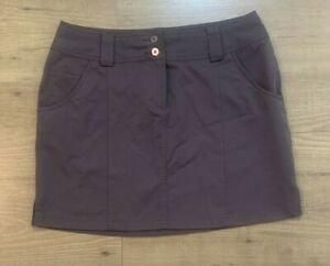 """Adidas ClimaCool Athletic Golf Skirt Brown Womens Size 8 Quick Dry 16""""L 5 Pocket"""