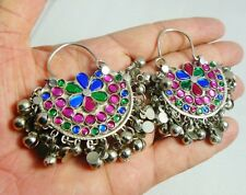 AFGHAN TRIBAL KUCHI NOMAD EARRINGS FROM PAKISTAN