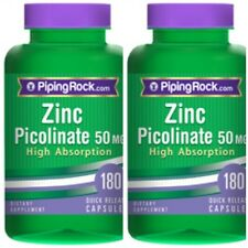 ZINC PICOLINATE 50mg High Absorption 50mg DIETARY IMMUNE SUPPLEMENT 360 CAPSULES