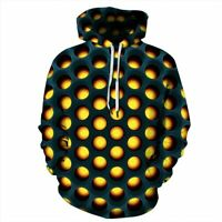 Mens 3D Print Hoodie Jumper Tops Womens Hooded Pullover Graphic Unisex