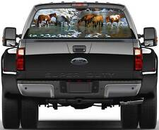 Horses along the Snowy River Window Graphic Decal Sticker Truck SUV Van