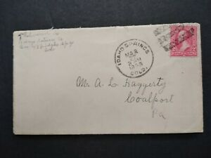Colorado: Idaho Springs 1898 Cover to Pa, Cedar Creek Co