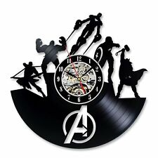 Avengers Wall Clock Vintage Vinyl Hanging Clocks Wall Unique Watch Home Decor