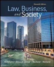 Law, Business and Society - Paperback By MCADAMS - GOOD