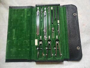 Vintage Keuffel Esser Co Mercury Engineer Drafting Set Compass