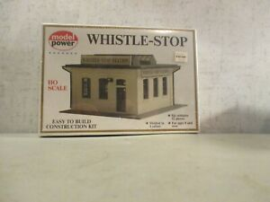 MODEL POWER HO SCALE WHISTLE STOP STATION MINT SEALED IN BOX