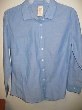 Faded Glory Small (4/6) 100% Cotton Med-Wash Chambray Shirt