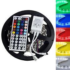 5M RGB 300LEDs 5050 SMD LED Strip light Lamp 44key Remote 12V 2A Power Supply PK