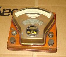 Antique Brass Weston Direct Reading Voltmeter Pat 1888 Wood Base No 426