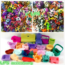 Random 30Pcs Littlest Pet Shop cat dog Animals hasbro LPS Figure toy & accessory