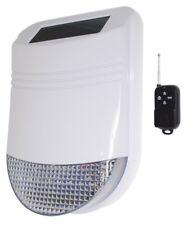 Wireless PANIC ALARM with Solar Powered Outdoor Weatherproof Wireless Siren