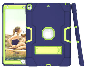 """Shockproof Heavy Duty Hard Case Stand Cover for iPad 8th 10.2"""" Pro 9.7 Air Mini"""