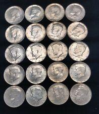 """1964 Kennedy 90% Silver Half Roll ~ 20 coins - $10 FACE ( AU/BU/ """"Shiners"""" )"""