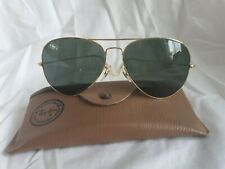 Vintage RAY-BAN B&L USA Gold Frame Aviator Pilot Sunglasses With Case