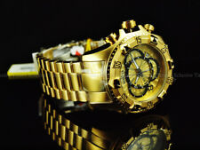 NEW Invicta Reserve 52mm Excursion Touring Swiss Chronograph 18K Gold IP Watch