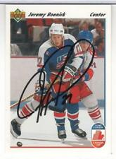 JEREMY ROENICK 1991-92 UPPER DECK # 36 IN PERSON SIGNATURE AUTOGRAPH CANADA CUP