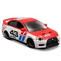Maisto 1/64 Red Lancer Evolution Alloy Diecast Car Model Vehicles Kids Toy Gift
