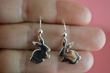 925 Sterling Silver Rabbit Bunny Earrings - Rabbit Bunny Dangle Earrings