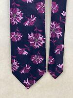 "DeSantis Collection 100% Silk Hand Made in Italy Necktie/Tie 61"" x 3.5"" Floral"