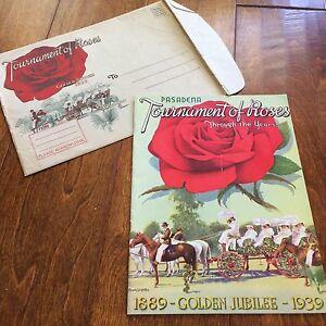*1939 Pasadena Tournament of Roses Golden Jubilee w/ origianl envelope,1889-39