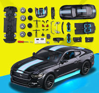 Maisto 1:24 Ford Mustang GT Diecast Assembly Line KIT DIY Model Car Black New